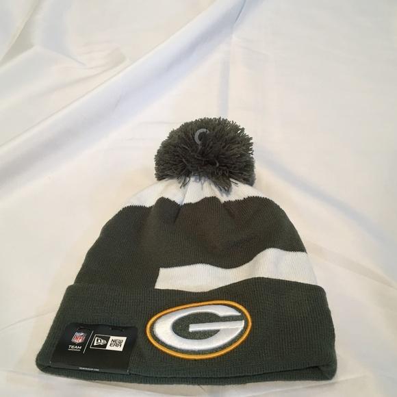 3421ce2a Green Bay Packers New Era Logo Whiz Pom Beanie Hat NWT